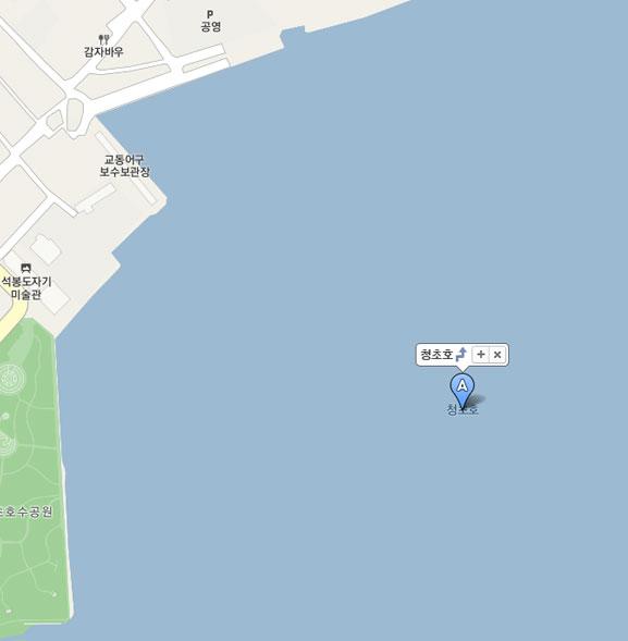 청초호 지도